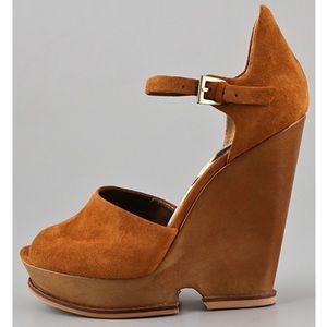 6d21061a569e6b Sam Edelman Shoes - Sam Edelman Javi Cutout Wedge Sandals - Rust
